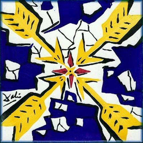 Salvador Dali - 3 ceramic tiles