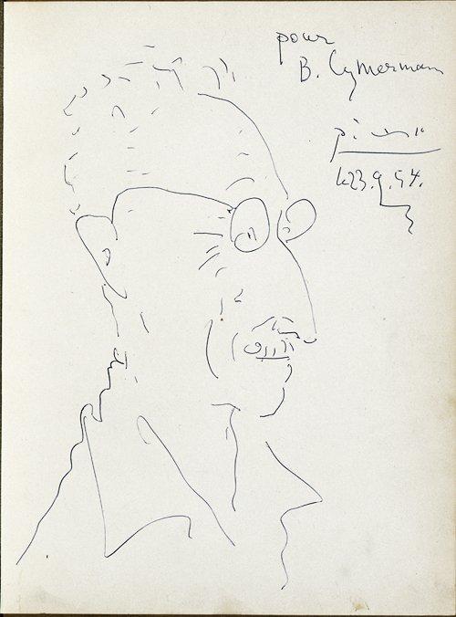Pablo Picasso - Portrait of Mr B Cymermann