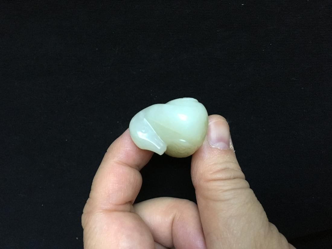 Chinese Jade Carved Duck - 6