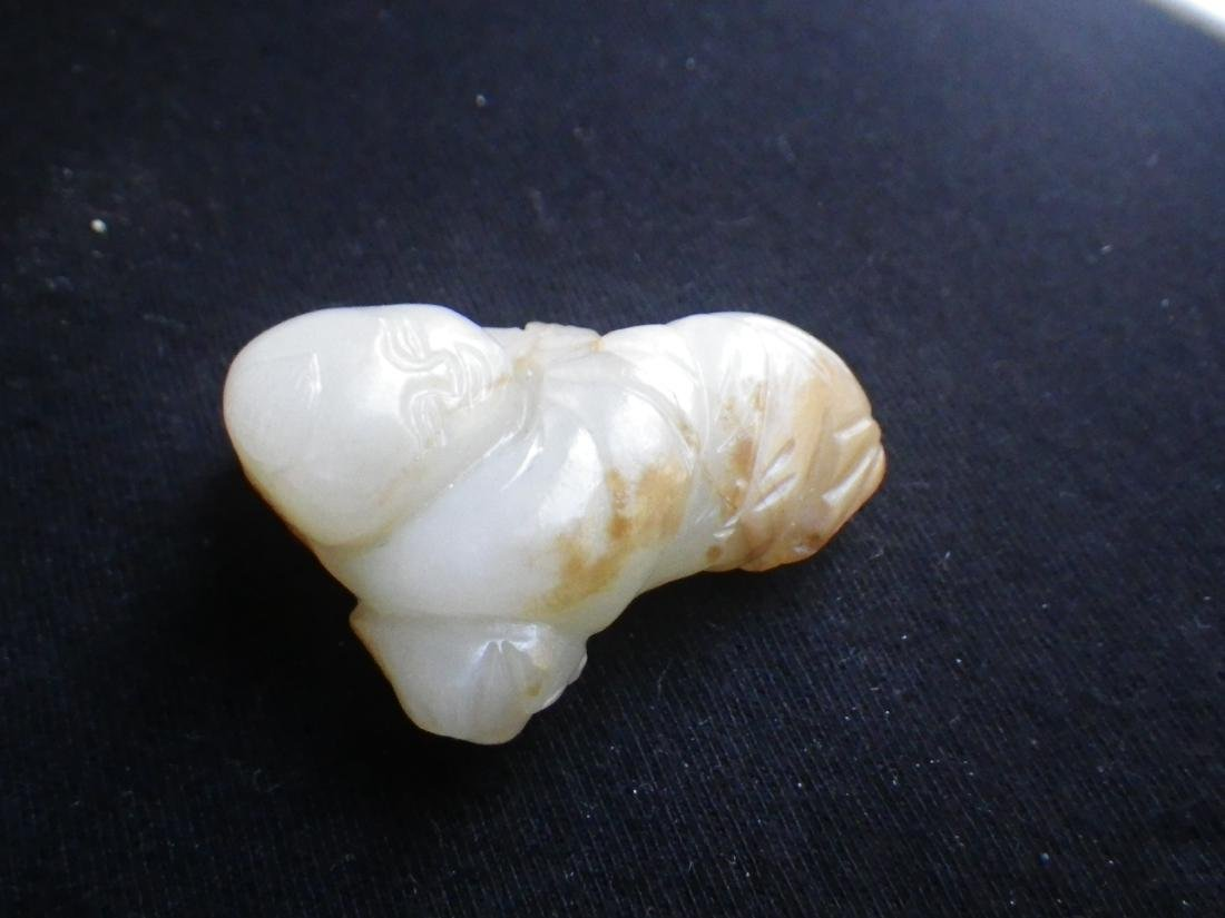 Chinese Jade Carved Boy - 5