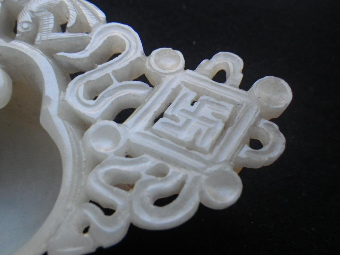 Chinese Jade Carved Ink Well - 8