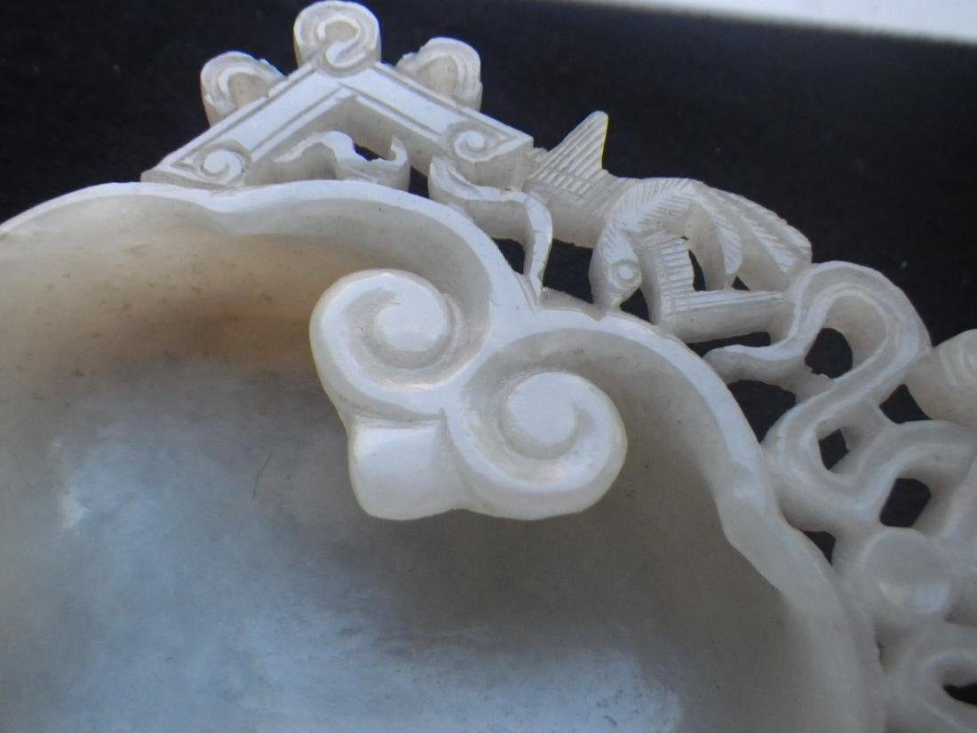 Chinese Jade Carved Ink Well - 9