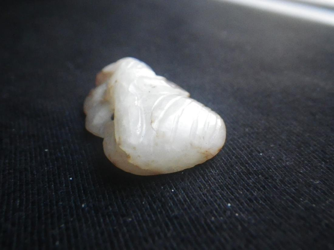 Chinese Jade Carved Parrot Pendant - 5