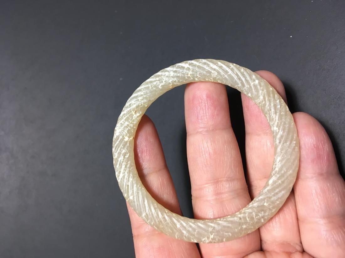 Chinese Jade Carved Bracelet - 2
