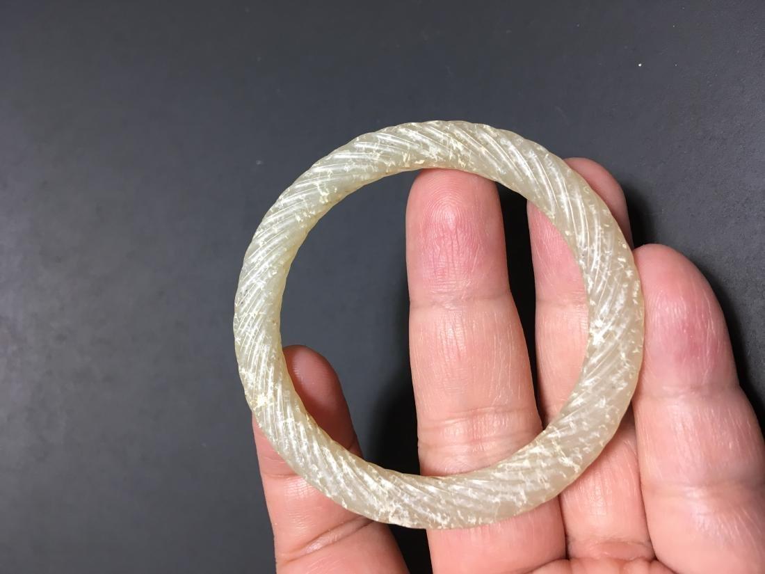 Chinese Jade Carved Bracelet - 5