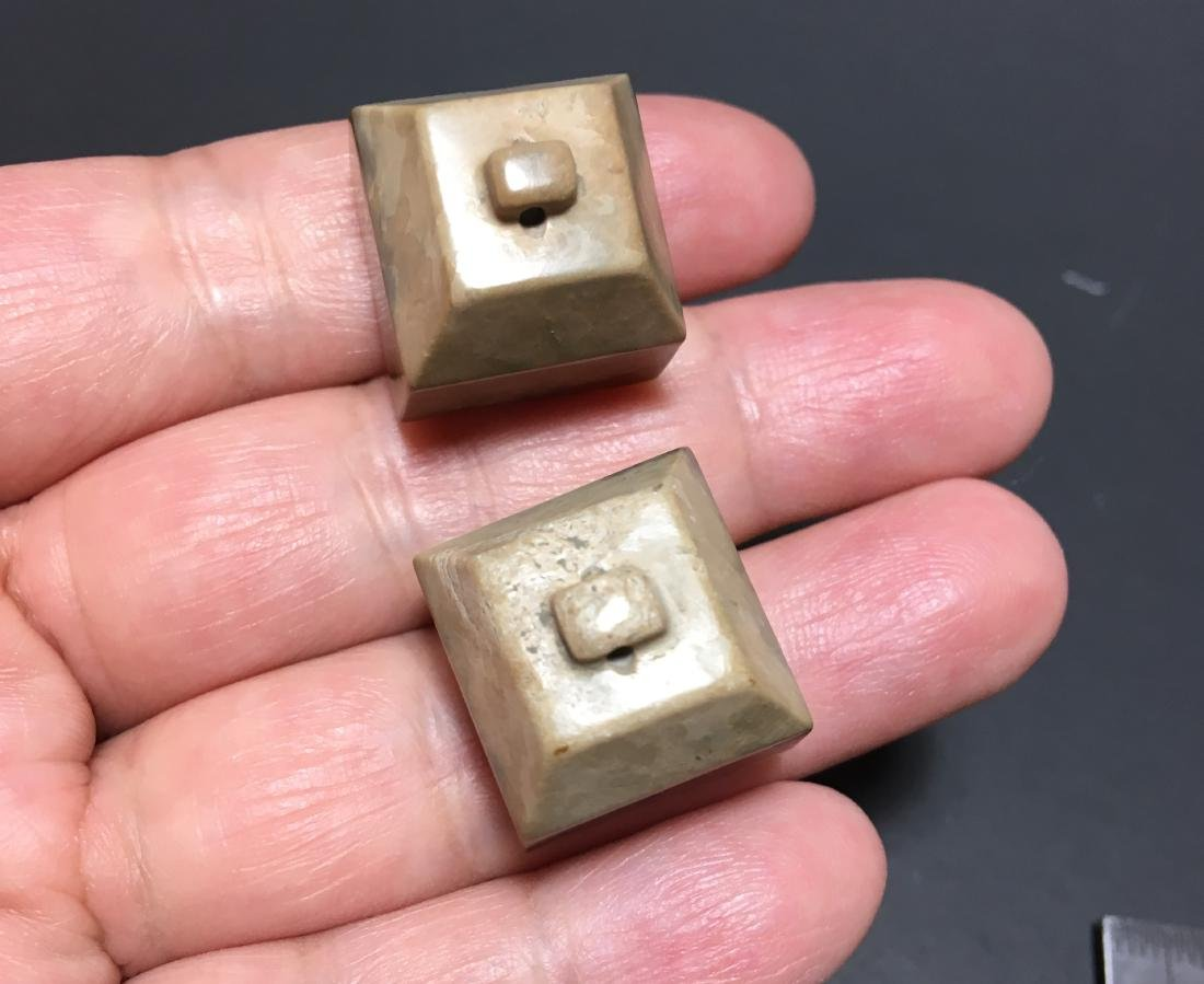 Chinese Yellow Jade Carved Seal - 7