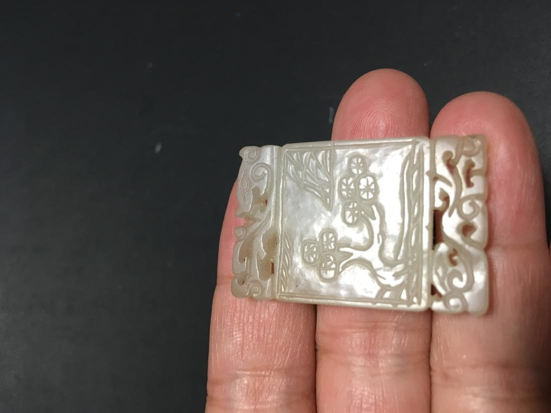 Chinese Jade Carved Pendant - 6