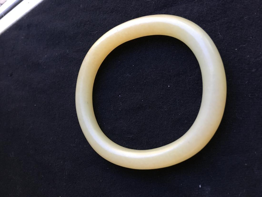 Chinese Jade Carved Bracelet - 3