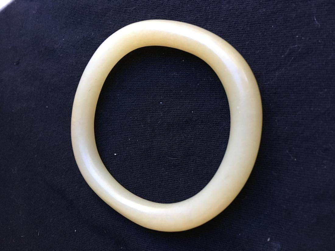 Chinese Jade Carved Bracelet - 4