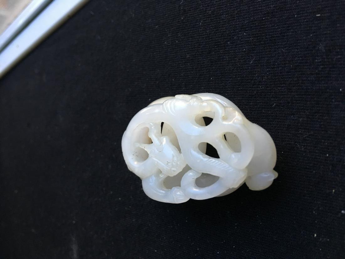 Chinese Jade Carved Dragon - 2