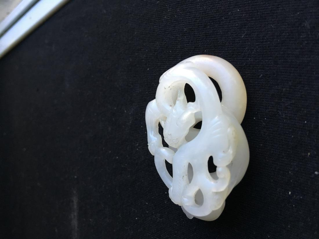 Chinese Jade Carved Dragon - 3