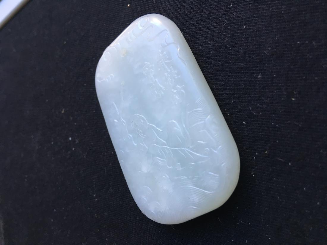 Chinese Jade Carved Pendant - 2