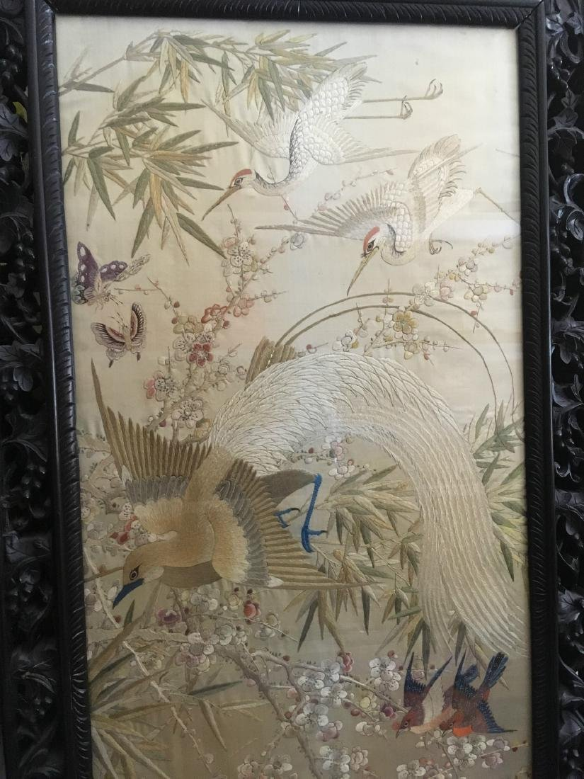 19th Century Chinese Embroidered Silk Screen - 10