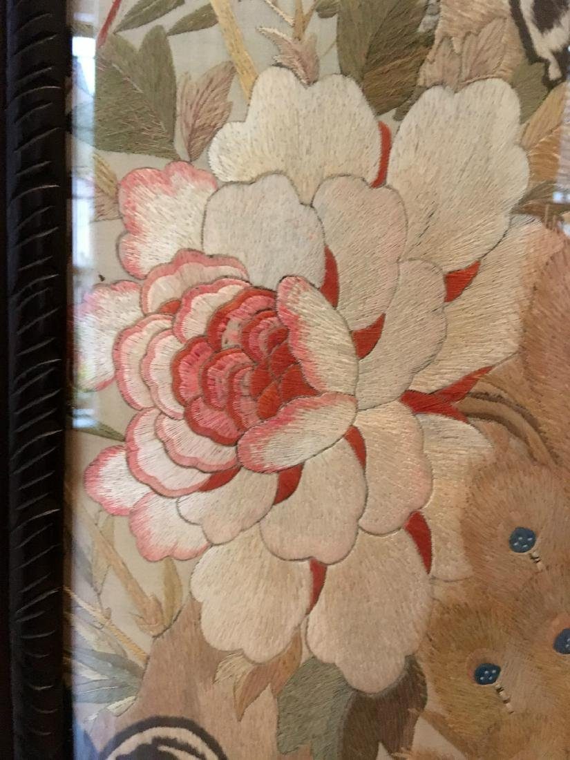 19th Century Chinese Embroidered Silk Screen - 5