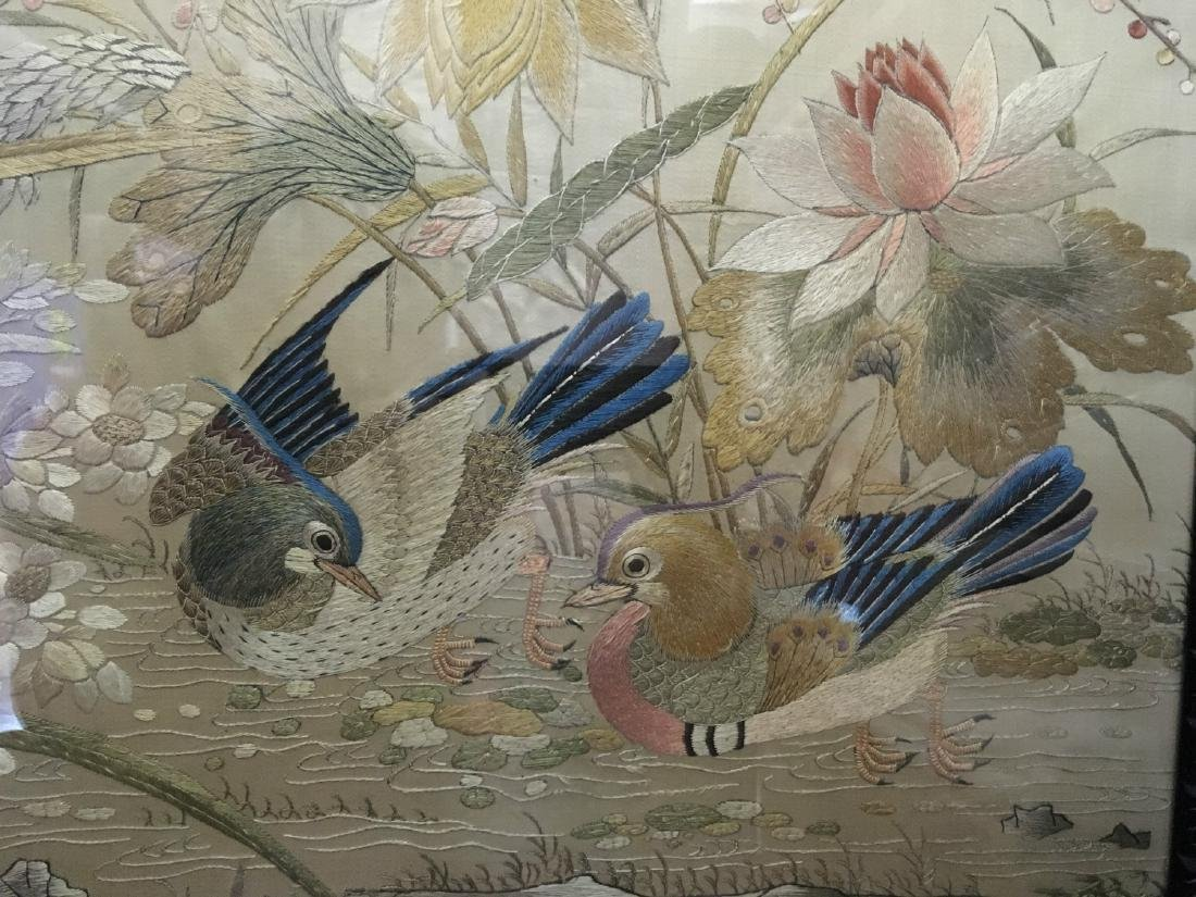 19th Century Chinese Embroidered Silk Screen - 8