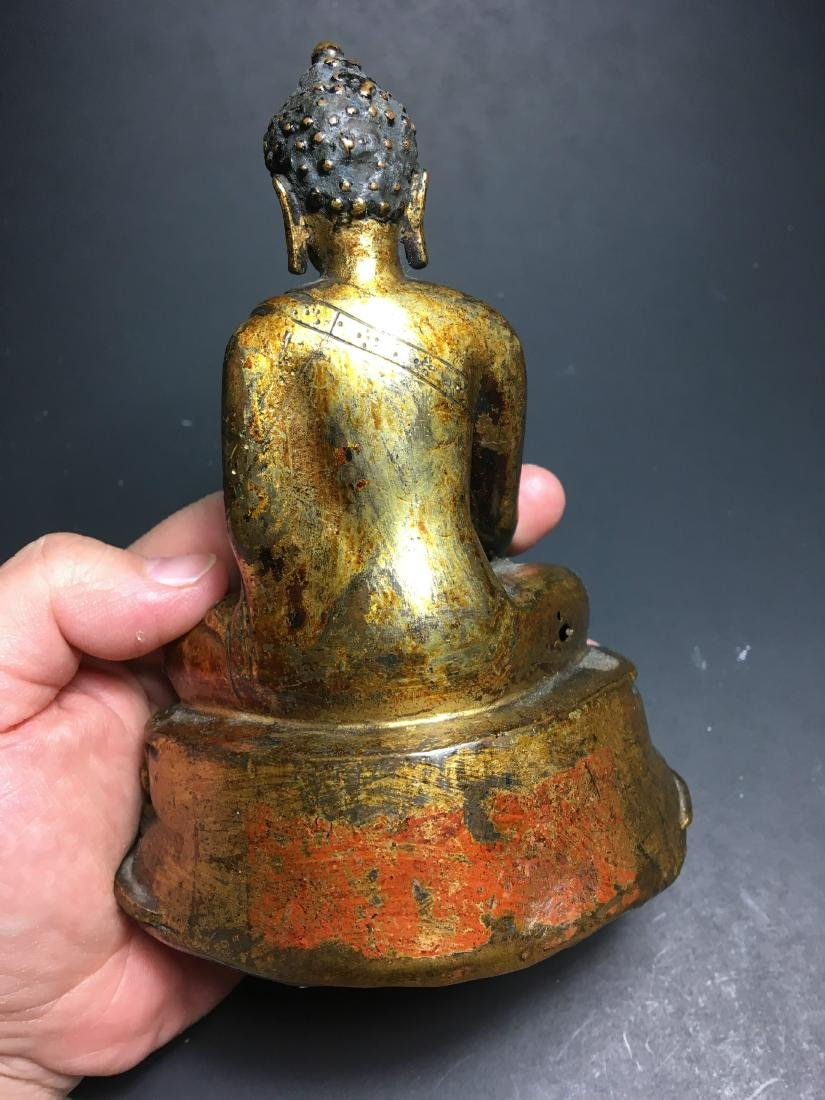 16th Century Chinese Tibet Gilt Bronze Buddha - 5