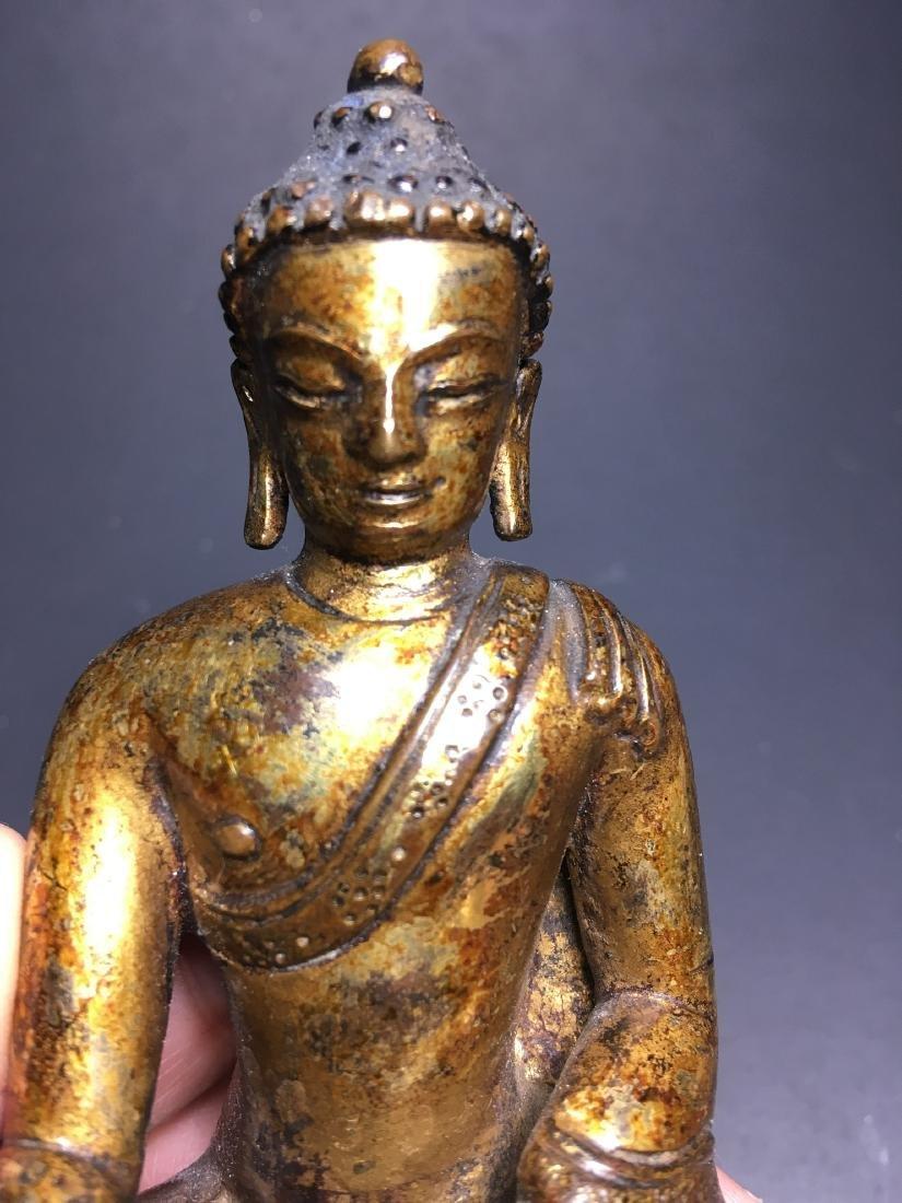 16th Century Chinese Tibet Gilt Bronze Buddha - 8