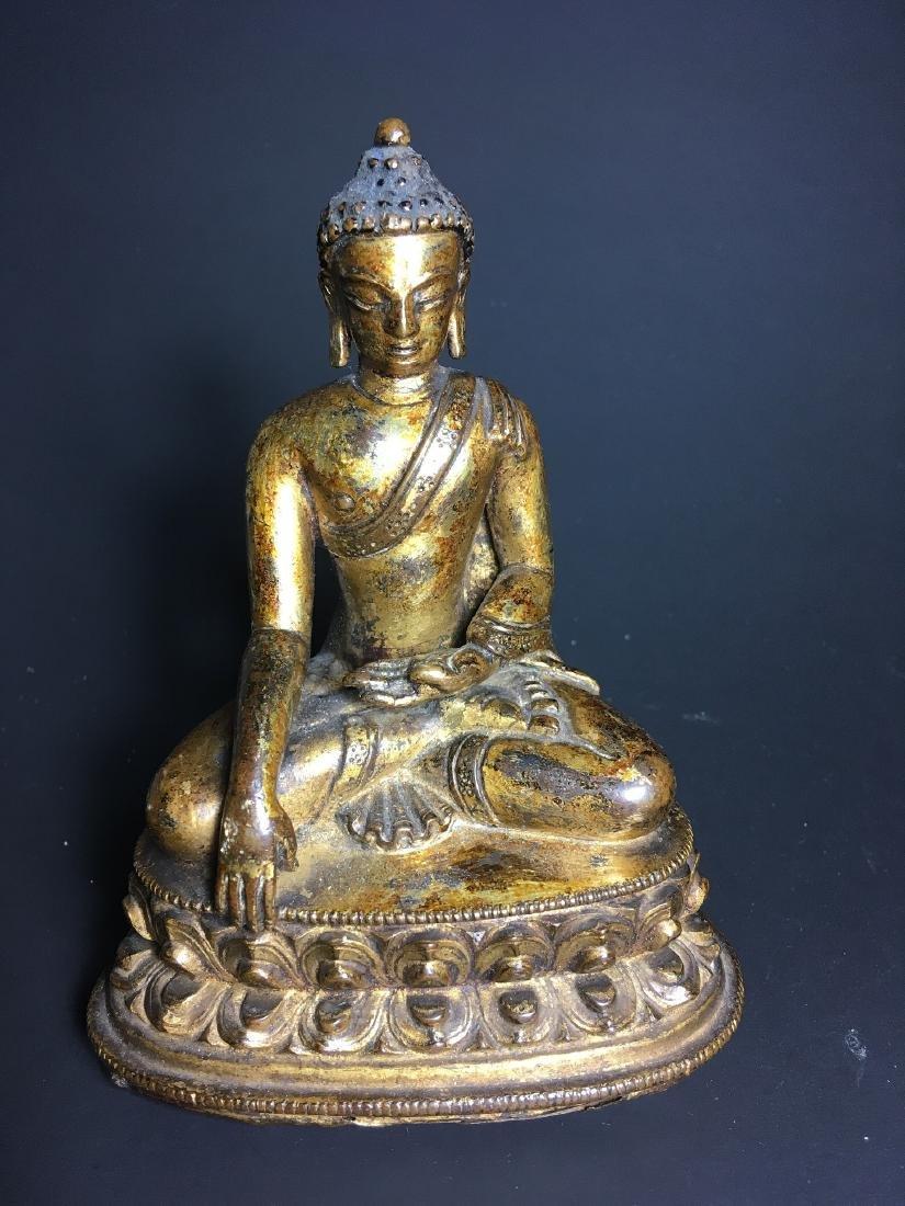 16th Century Chinese Tibet Gilt Bronze Buddha - 9