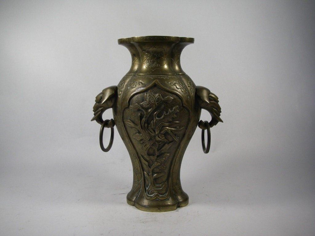 20th century Chinese bronze vase