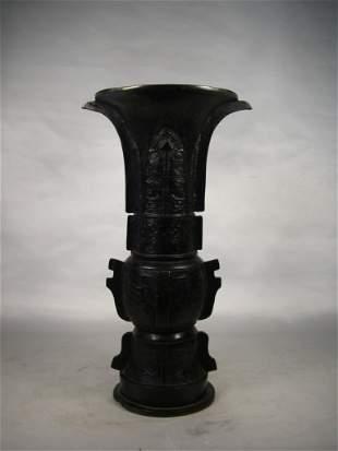 19th century Chinese bronze vase