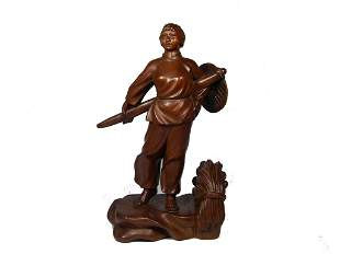 20th century Chinese huang yang wood figure