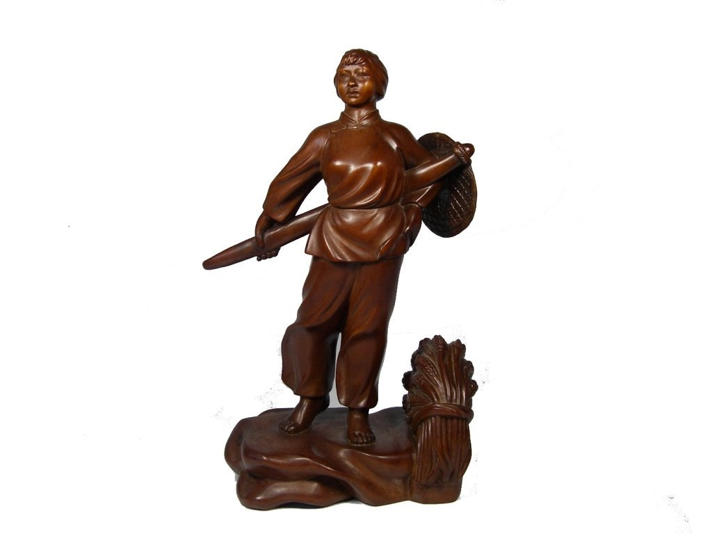 20th century Chinese huang yang wood figure