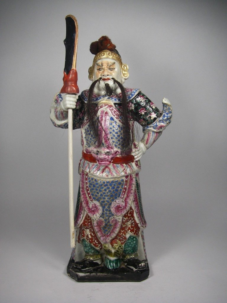 19th century Chinese wood carved figure
