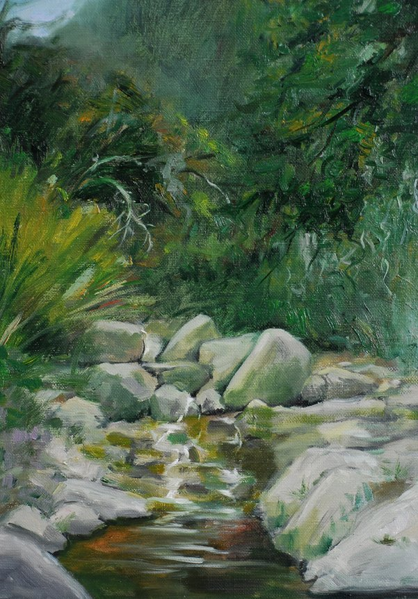 Chinese Oil Painting: The Stream