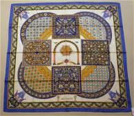 "HERMES Paris ""Ciels Byzantins"" by Julia Abadie Blue dam"