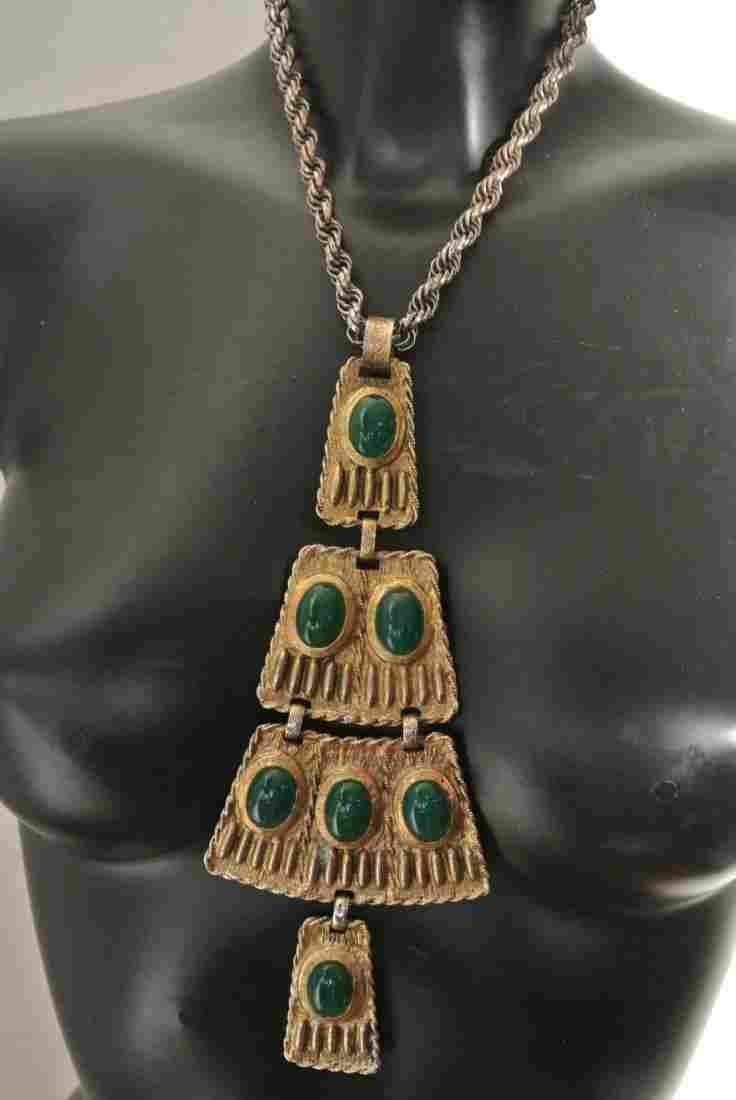 EOLEE Collier d'inspiration égyptienne à quatre motifs