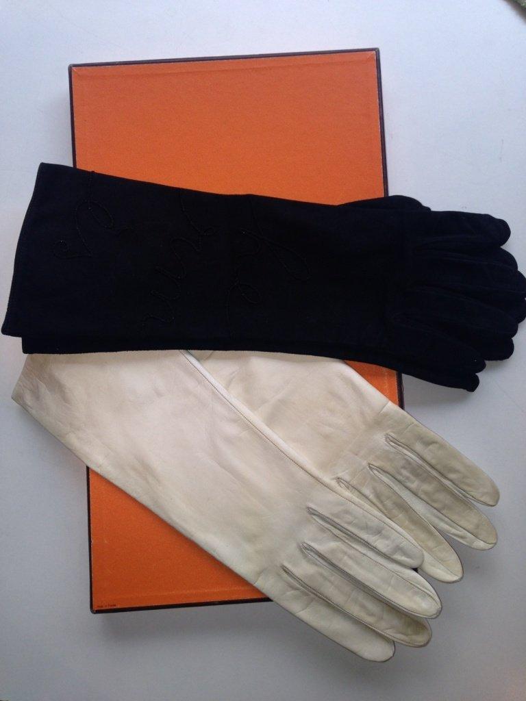 HERMES Paris Made in France Lot de deux paires de gants