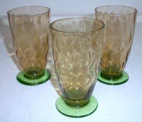5: Set of 3 Steuben Juices