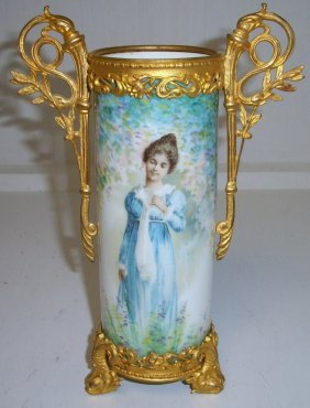 German Portrait Vase