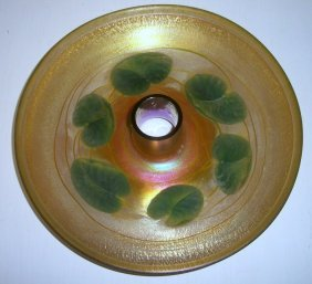 8: Tiffany Gold Favrile Bowl