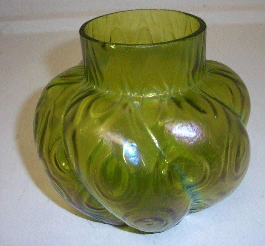 10: Austrian iridescent art glass Vase