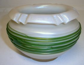 15: Iridescent Art glass bowl