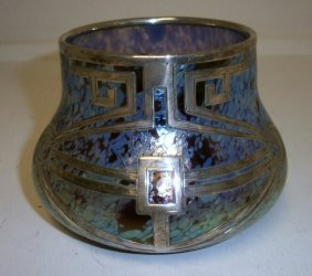 18: Art Deco Silver overlay vase