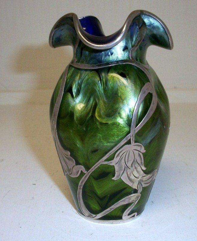 25: Loetz Titania Silver Overlay Vase