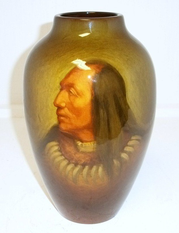 90: Rookwood Standing Buffalo Vase