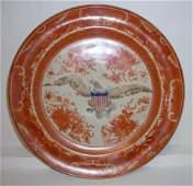 100: Orange Eagle Fitzhugh Plate