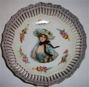 Gibson girl portrait plate
