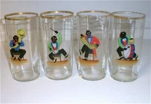 Black Musician drinking glasses