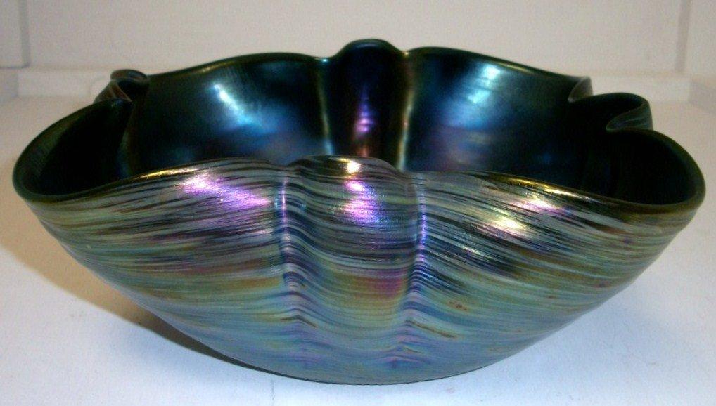 Austrian iridescent art glass bowl