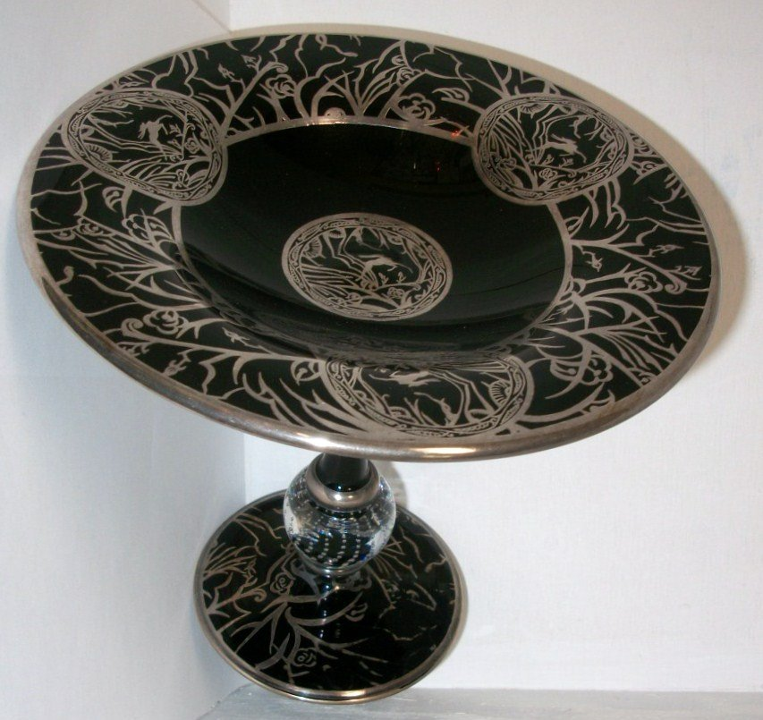 Pairpoint Silver Overlay Compote