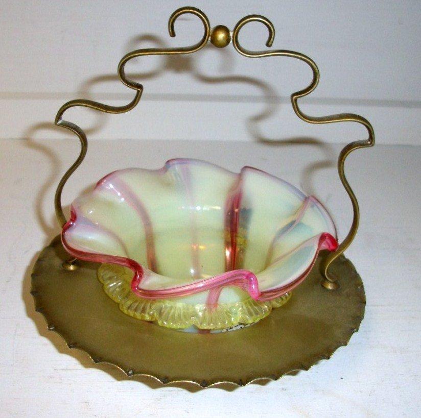 Stevens and Williams Art Glass Basket
