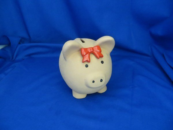 Un-Glazed Ceramic Pig Coin Bank