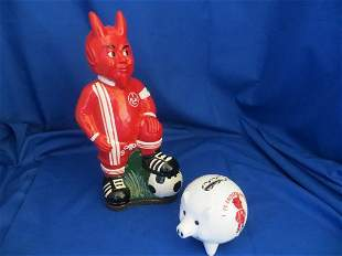 2 Soccer Player Coin Banks