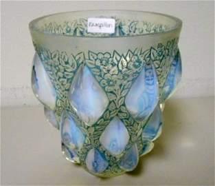 R. Lalique Rampillion Vase