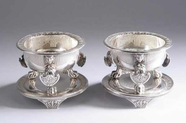 705: PAIR GEORGE III SILVER SALTS, by Digby Scott and B