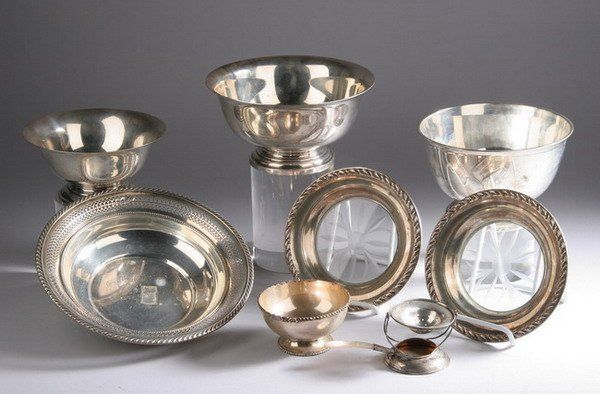 COLLECTION AMERICAN STERLING HOLLOWWARE, 20th cent